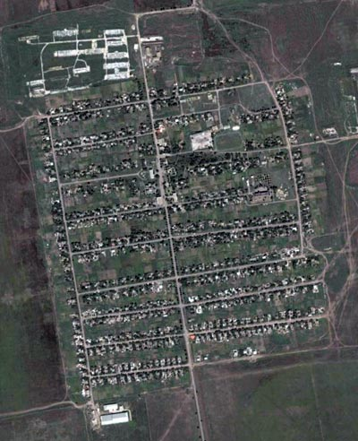 Вид на Надеждовку в GoogleEarth