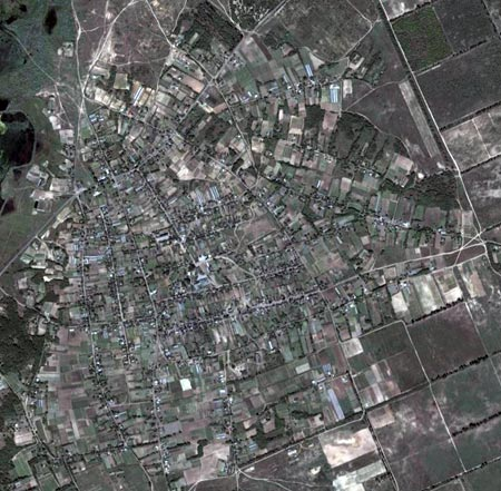 Вид на Костогрызово в GoogleEarth