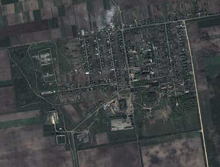 Вид на Доброполье в GoogleEarth