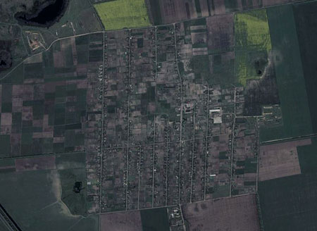 Вид на Долматовку в GoogleEarth
