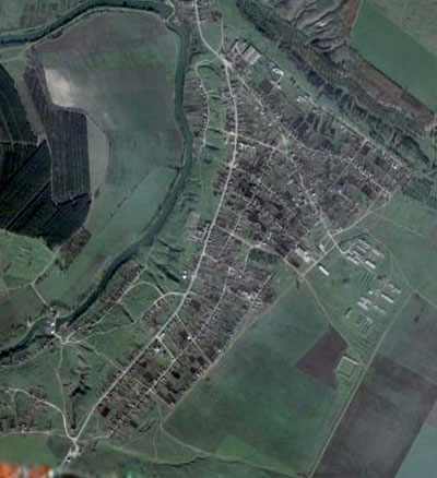 Вид на Малую Александровку в GoogleEarth