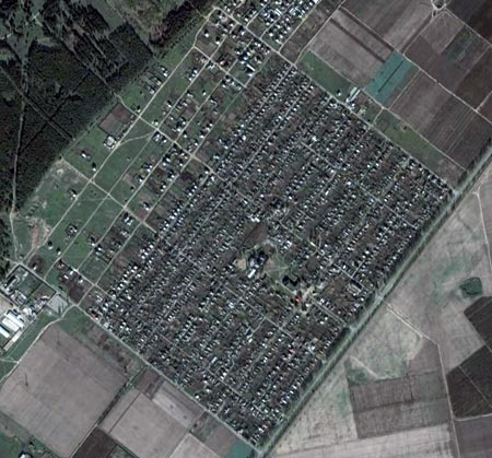 Вид на Малокаховку в GoogleEarth