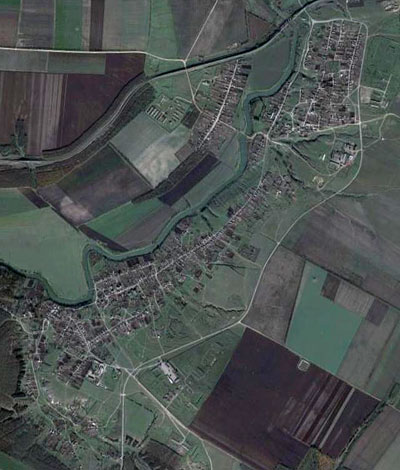 Вид на Новодмитровка в GoogleEarth
