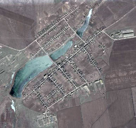 Вид на Стокопани в GoogleEarth